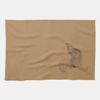 """The cockerel """"waltz """" kitchen towel"""