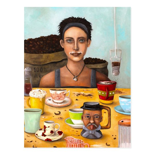 The Coffee Addict Postcard