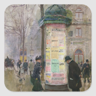 The Colonne Morris, c.1885 Square Sticker