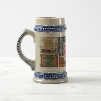 The Color of Money Beer Stein