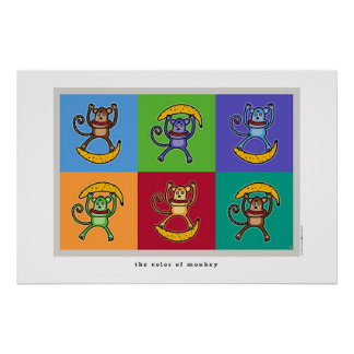 the color of monkey poster