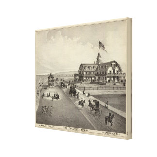 The Colorado House, Ocean Beach, NJ Canvas Print