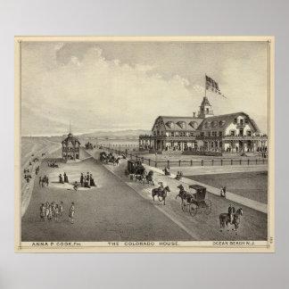 The Colorado House, Ocean Beach, NJ Poster