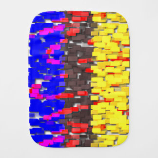 The Colored Building Blocks Burp Cloth