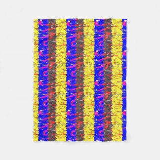 The Colored Building Blocks Fleece Blanket