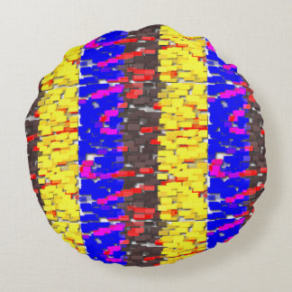 The Colored Building Blocks Round Pillow