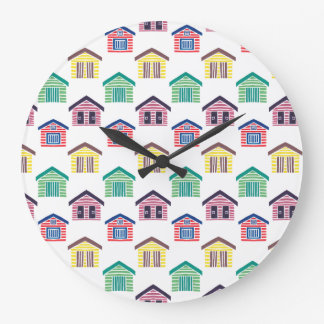 The Colorful Beach Houses Wallclock