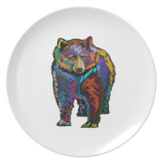 THE COLORFUL SHOW DINNER PLATE