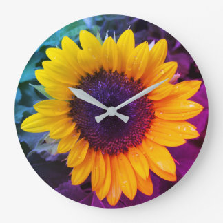 The Colorful Sunflower Large Clock