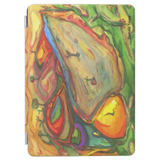 The colorful village iPad air cover