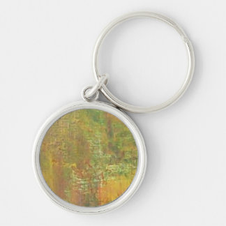 The Colors Of Fall Silver-Colored Round Keychain