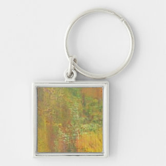 The Colors Of Fall Silver-Colored Square Keychain