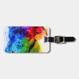 The colors of Love are a Pitbull Luggage Tag