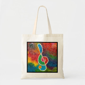 the colors of music tote bag