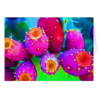 The Colors of  Prickly Pears Card