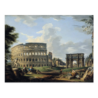 The Colosseum and the Arch of Constantine Postcard