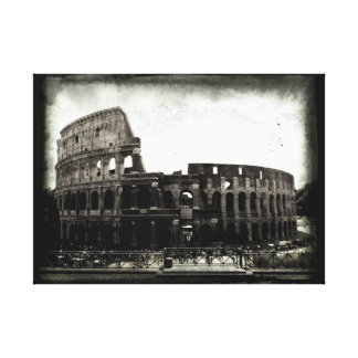 The Colosseum in Black and White Canvas Print
