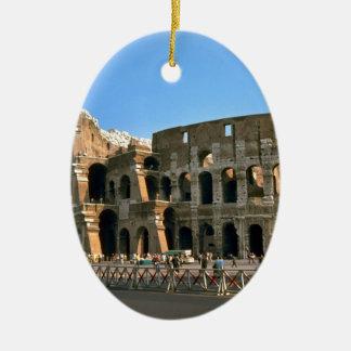 The Colosseum in Rome Ceramic Oval Ornament