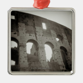 The colosseum in Rome, Italy Silver-Colored Square Ornament