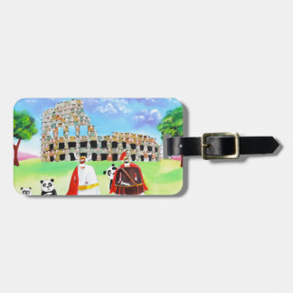 the colosseum made of sheep Gordon Bruce art Luggage Tag