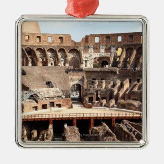 The Colosseum or Roman Coliseum, originally Silver-Colored Square Ornament
