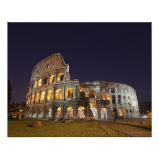 The Colosseum or Roman Coliseum, originally the Poster