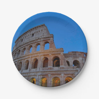 The Colosseum, originally the Flavian Amphitheater 7 Inch Paper Plate