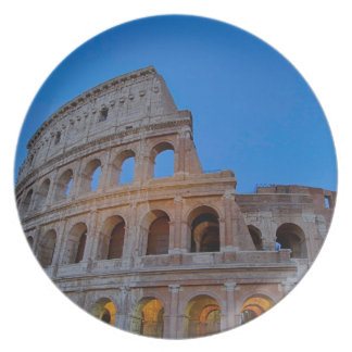 The Colosseum, originally the Flavian Amphitheater Dinner Plate