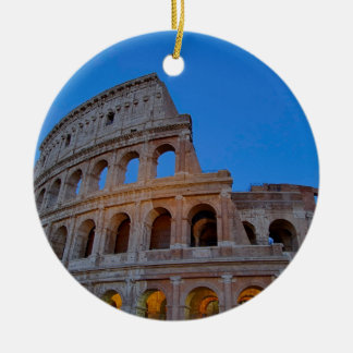 The Colosseum, originally the Flavian Amphitheater Round Ceramic Ornament