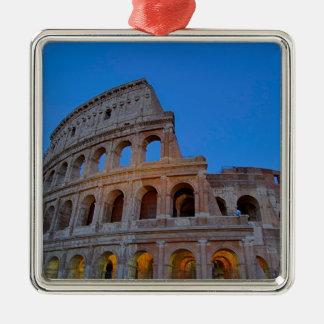 The Colosseum, originally the Flavian Amphitheater Silver-Colored Square Ornament