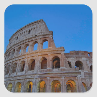 The Colosseum, originally the Flavian Amphitheater Square Sticker