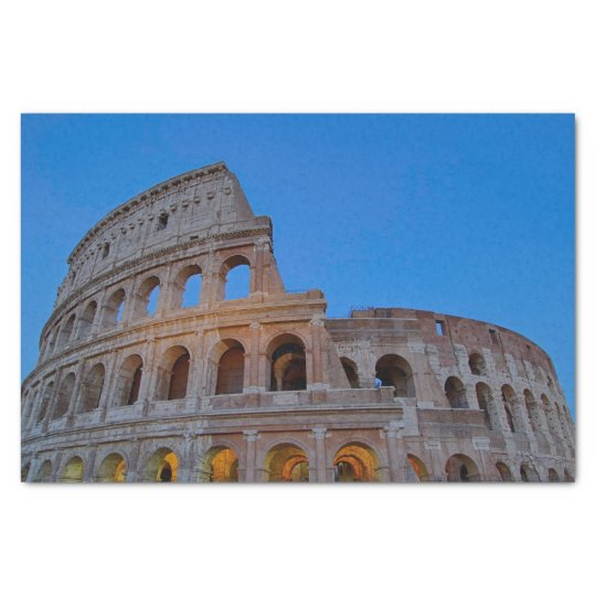 The Colosseum, originally the Flavian Amphitheatre Tissue Paper