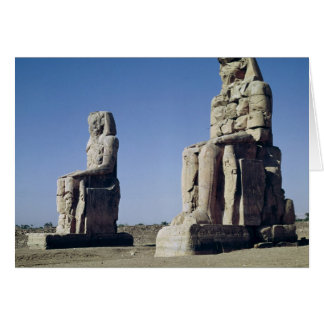 The Colossi of Memnon, statues of Amenhotep Card