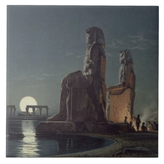 The Colossi of Memnon, Thebes, one of 24 illustrat Tile