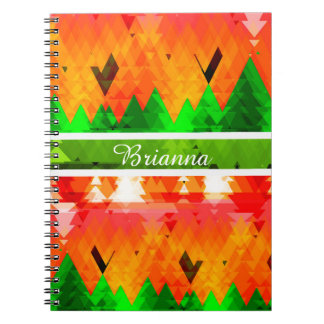 The colours of autumn pine trees customizable spiral notebook