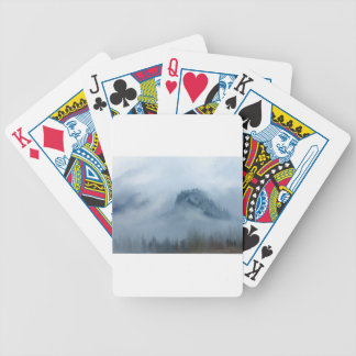 The Columbia Gorge In The Fog Bicycle Playing Cards
