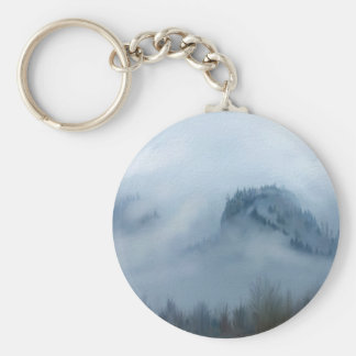 The Columbia Gorge In The Fog Keychain