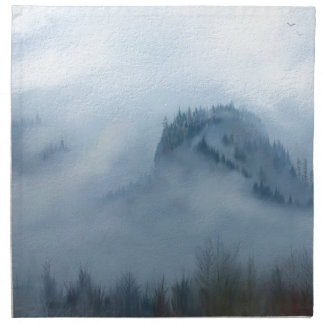 The Columbia Gorge In The Fog Napkin