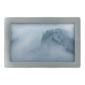 The Columbia Gorge In The Fog Rectangular Belt Buckles