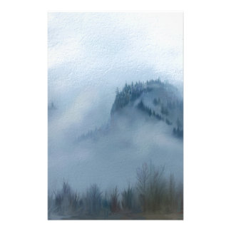 The Columbia Gorge In The Fog Stationery
