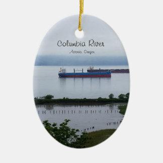 The Columbia River in Astoria Oregon Ornament