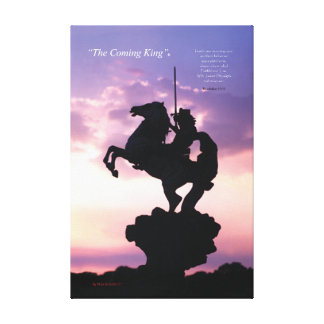 """""""The Coming King""""® Silouette Canvas Print"""