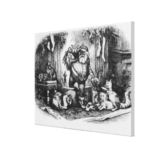 The Coming of Santa Claus, 1872 Gallery Wrap Canvas