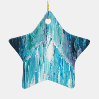The Coming religious abstract expressionism Christmas Ornament