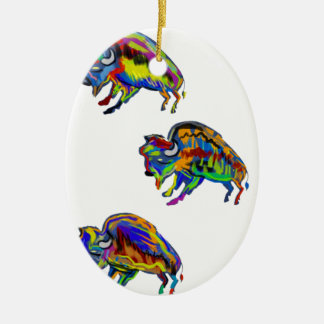 THE COMING THUNDER CERAMIC OVAL ORNAMENT