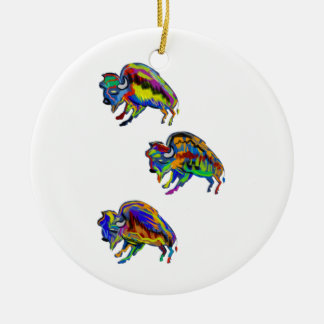 THE COMING THUNDER ROUND CERAMIC ORNAMENT