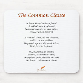 The Common Clause Poem Mouse Pad