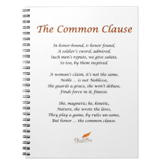 The Common Clause Poem Notebook