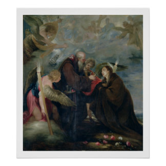 The Communion of St. Rose of Viterbo (The Virgin) Poster