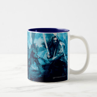 The Company in Mirkwood Movie Poster Two-Tone Mug